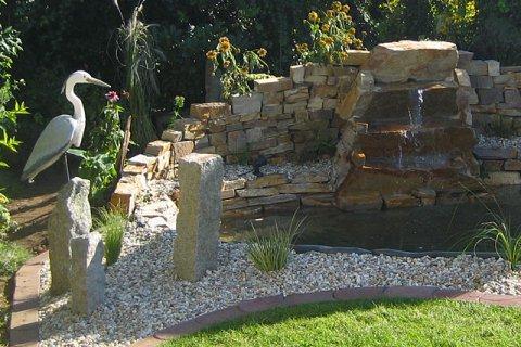 Referenz Heger Teich mit Wasserfall