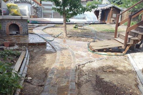Wasserstelle Im Garten wege und wasserstelle garten wasser stein
