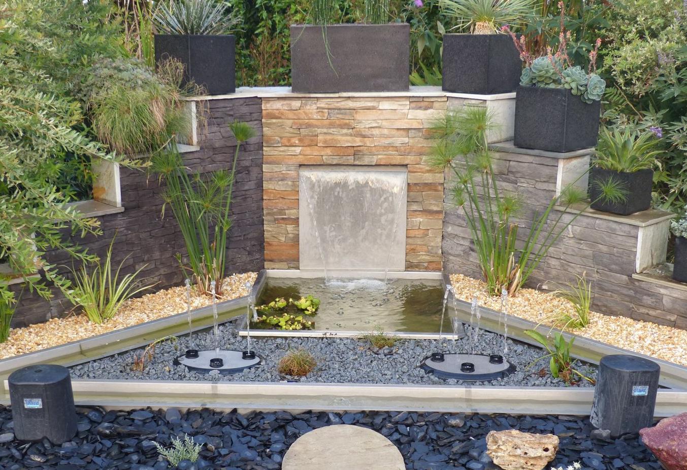 Neuer Brunnen im Schaugarten